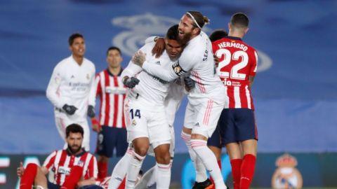 Real Madrid derrotó al Atlético de Madrid de Héctor Herrera