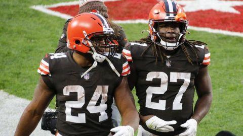 Chubb y Hunt, la dupla dispar de running backs en Cleveland