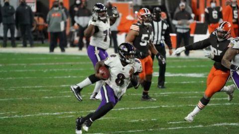 Jackson rescata apurada victoria de Ravens sobre Browns