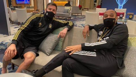 """Gignac se reúne con Henry en concentración de """"Concachampions"""""""