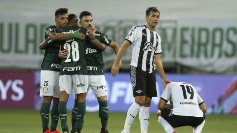 Palmeiras golea a Libertad; es semifinalista en Libertadores