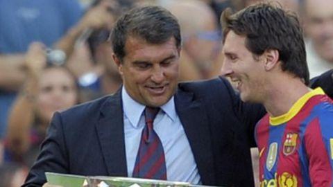 Laporta promete tratar de que Messi se quede en el Barça