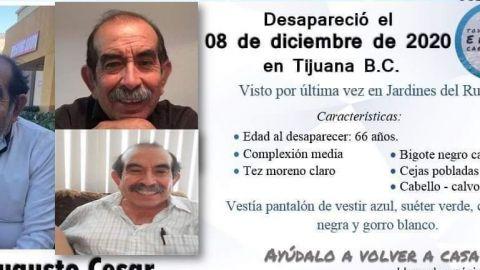 Buscan a Augusto César Torres, un abuelito de Tijuana