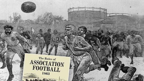 El primer partido de fútbol en la historia