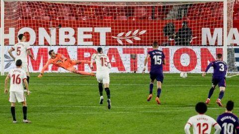 Sevilla lo ganaba con gol de Ocampos, pero Valladolid se lo empató