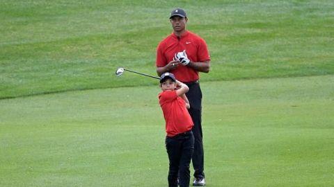 Los Woods no ganaron pero se llevaron toda la atención del Father-Son Challenge