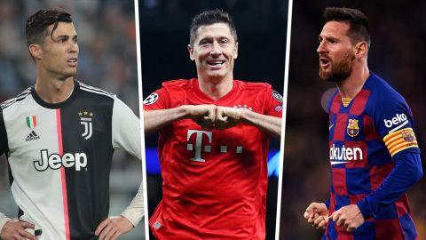 Lewandowski: No sé si estoy en la misma mesa que Messi y Cristiano