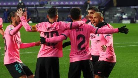 El Barça gana y recupera el brillo en el José Zorrilla