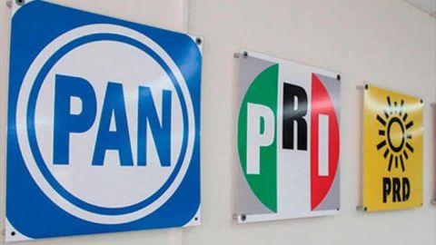 PAN, PRI y PRD presentan coalición ''Va por México'' para las elecciones de 2021