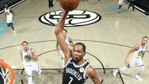 Nets de Brooklyn  avasallaron a los Warriors de Golden State