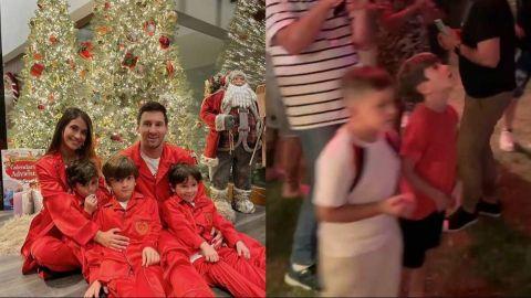 Así vivió Messi y su familia la Navidad y llegada de Santa Claus