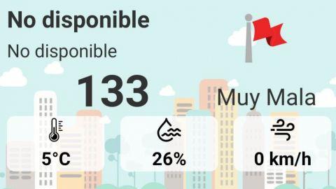 Bandera púrpura califica como ''muy mala'' la calidad del aire en Mexicali