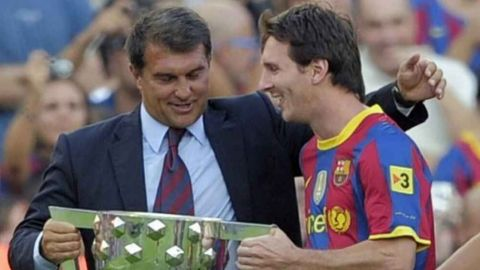 Laporta dice que puede convencer a Messi