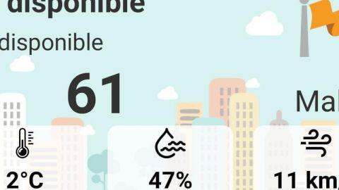 Mala de calidad del aire el último día del año