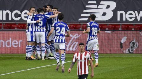 Real Sociedad rompe mala racha y se aferra a 3er lugar