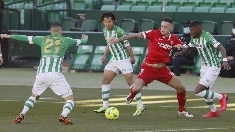 Lainez juega en el empate entre Betis y Sevilla
