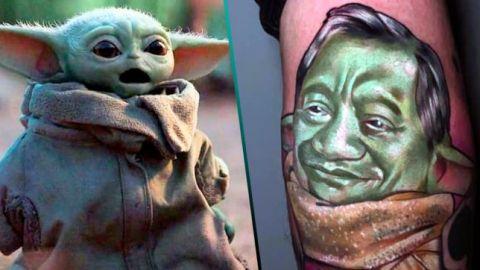 FOTOS: Se tatúa un ''Baby Manzanero'' en honor al cantante y a Star Wars