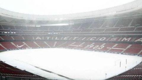 Atlético de Madrid vs Athletic Club es suspendido por fuertes nevadas