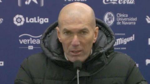 Molesto Zidane por el partido ante Osasuna