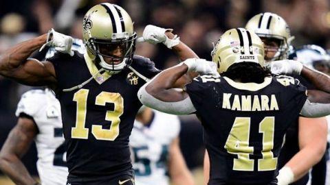Saints activan a los estelares Alvin Kamara y Michael Thomas