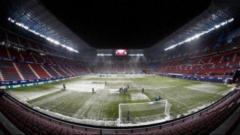 El clima hace de las suyas en el futbol europeo