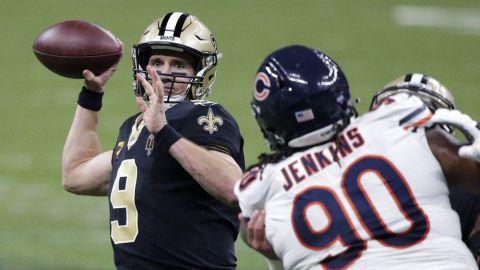 Saints batallan pero vencen a Bears y ahora esperan a Brady y Tampa Bay