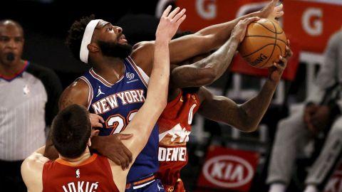 Los Nuggets, con un Jokic inspirado, se imponen a los Knicks