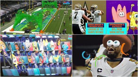 VIDEO: Nickelodeon y Bob Esponja se roban el show con transmisión de NFL