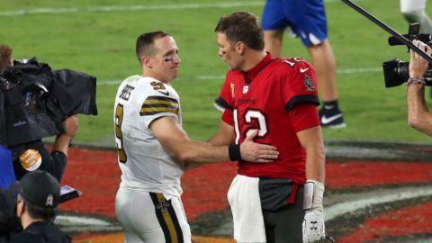 Tom Brady y Drew Brees, más grandes que 3 entrenadores de los playoffs