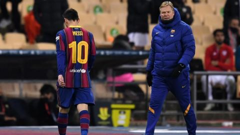 Messi, suspendido dos partidos por agresión en la Supercopa Española