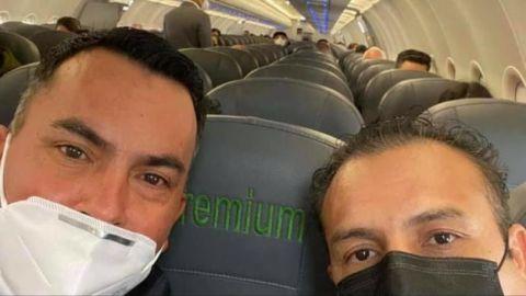 Delegado de Morena en Baja California viaja en clase Premium