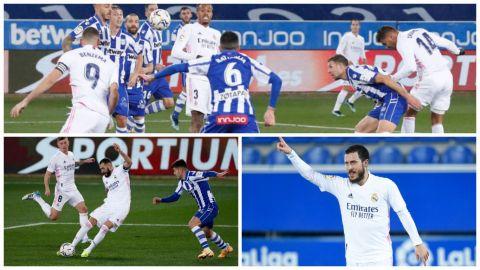Benzema hace olvidar el fracaso copero al Real Madrid