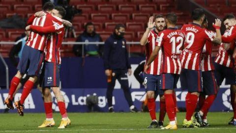 El Atlético y Luis Suárez prolongan su marcha triunfal