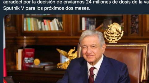 Rusia venderá a México 24 millones de vacunas: AMLO
