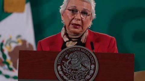 Rechaza Sánchez Cordero que AMLO haya sido vacunado contra el Covid