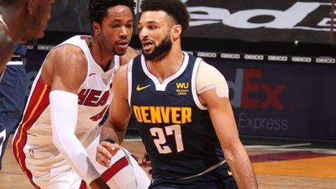 Nuggets hilan quinto triunfo seguido; superan a Heat