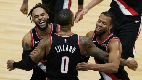 Triple de Lillard da triunfo a Blazers sobre Bulls