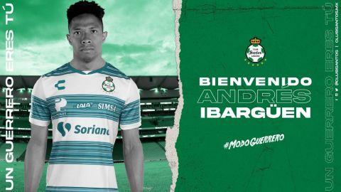 Santos oficializa llegada de Andrés Ibargüen durante juego ante América