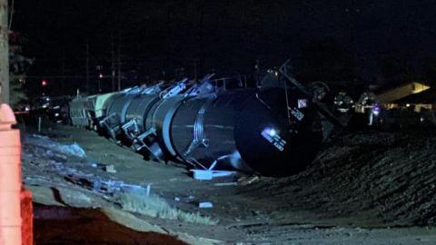 Descarrila tren carguero en el Centro California