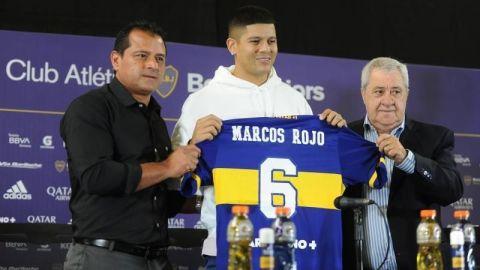 Presentan a Marcos Rojo con Boca Juniors