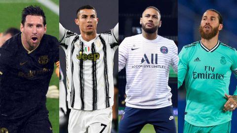 Messi, Cristiano, Neymar y Ramos, los mejores de la década