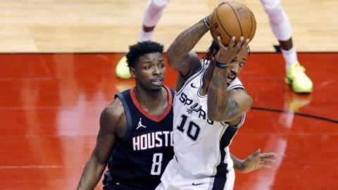 DeRozan suma 30 puntos en victoria de Spurs sobre Rockets