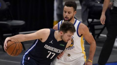 Doncic supera a Curry en duelo; Mavs se imponen a Warriors