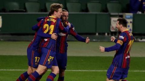 El Barça se lleva el triunfo ante el Betis en una segunda parte con Messi