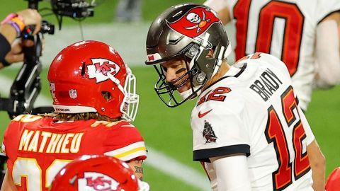 Brady se disculpó con el safety de Chiefs Tyrann Mathieu tras altercado en SB