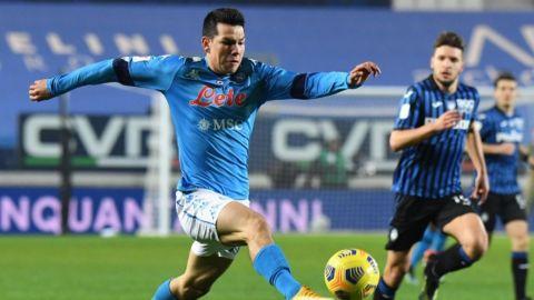 Hirving Lozano anota para Napoli ante Atalanta