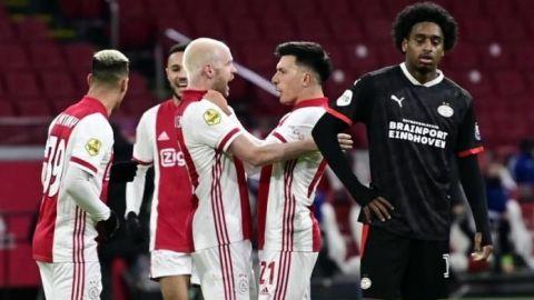 Con Edson en la cancha, Ajax elimina al PSV de la Copa de Holanda
