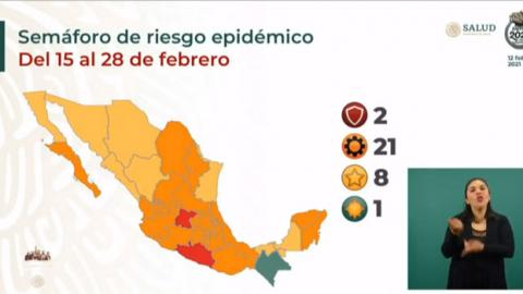 México acumula 172 mil muertes por Covid; hay sólo 2 estados en rojo