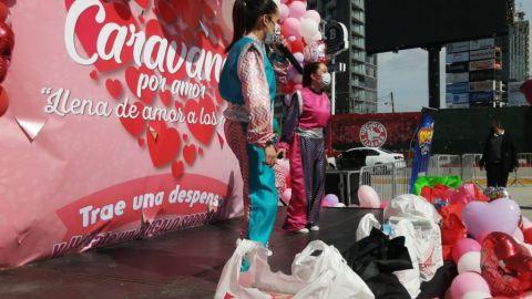 Inicia ''Caravana por amor'': Recaudación de despensa para casas hogares