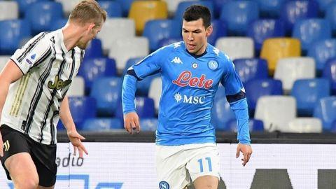 Napoli confirma lesión muscular para Hirving Lozano